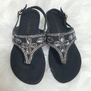 246d059a2b5349 Lucita rhinestone sandals. Toddler size 10